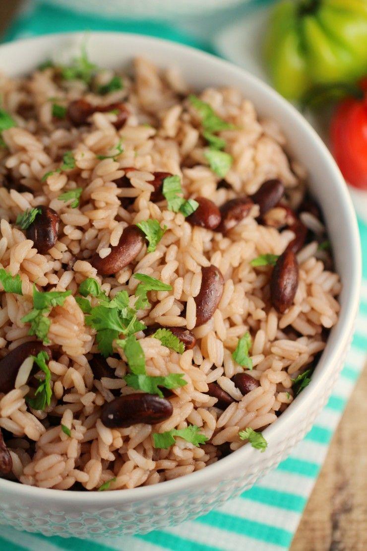 Jamaican Rice & Peas Recipe Jamaican recipes, Jamaican