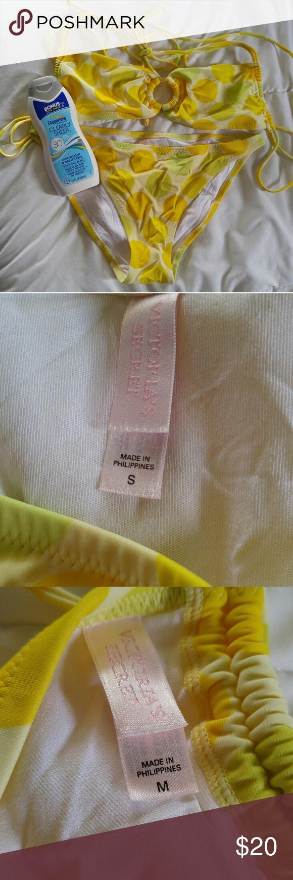 winnie polka bikini yellow Tiny dot