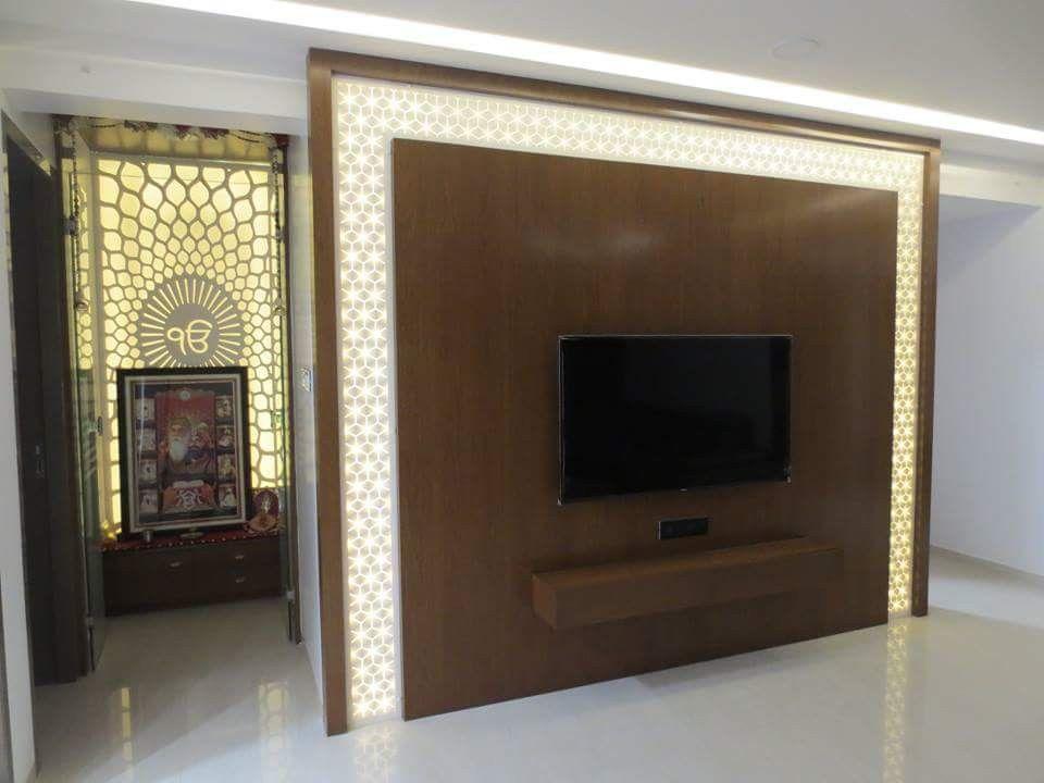 Karan jangid lcd panels Tv wall design, Ceiling design