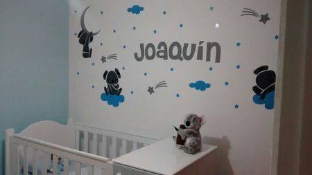 Paredes Decoradas Para El Bebe Cuarto De Bebe Pared Decorada Bebe