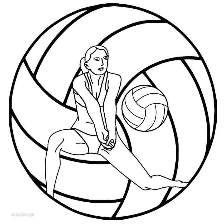 Awesome Volleyball Ball Coloring Page With Images Coloring
