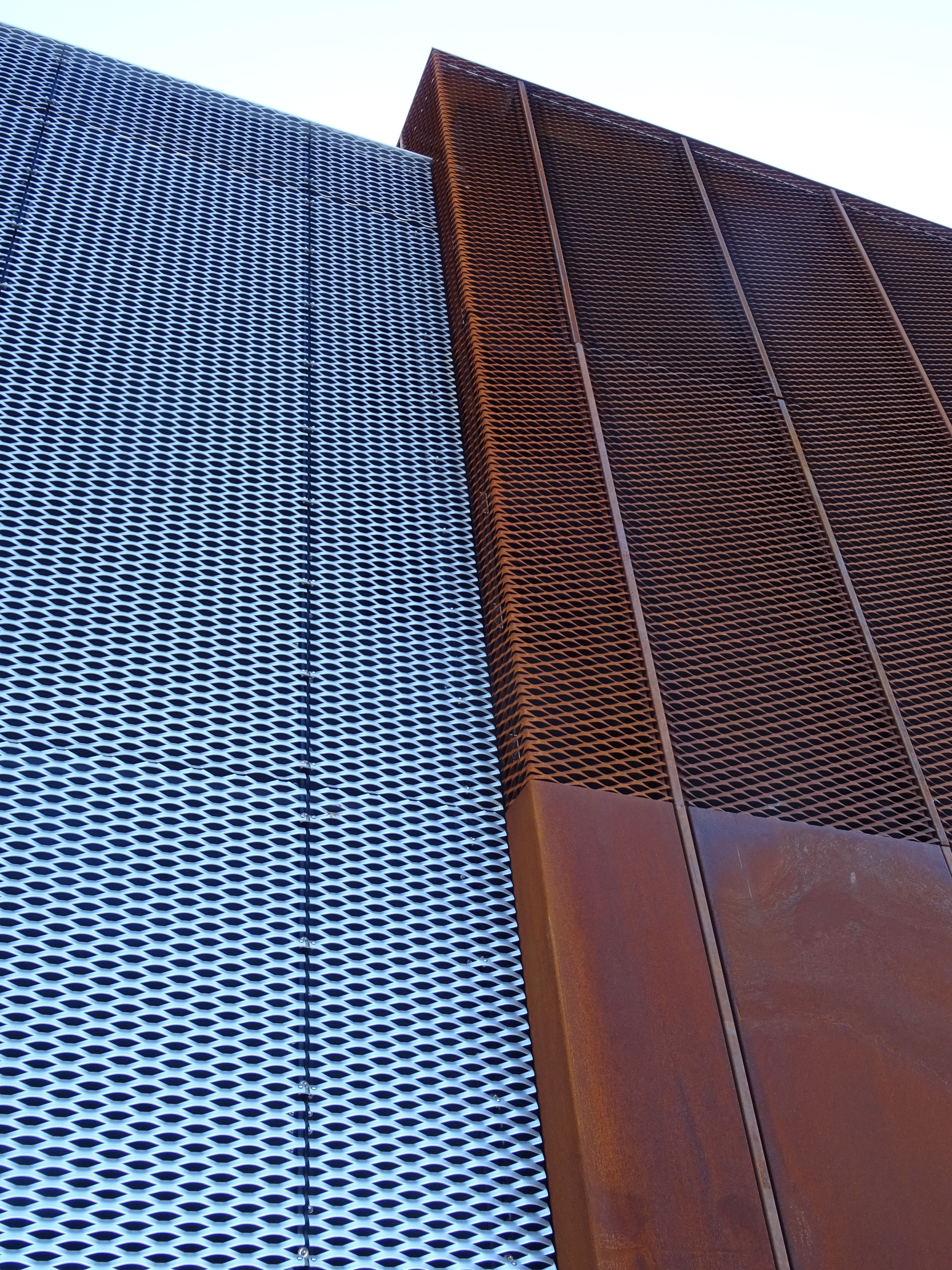 Corten And Mesh By James And Taylor Metal Facade Facade Architecture Facade Design