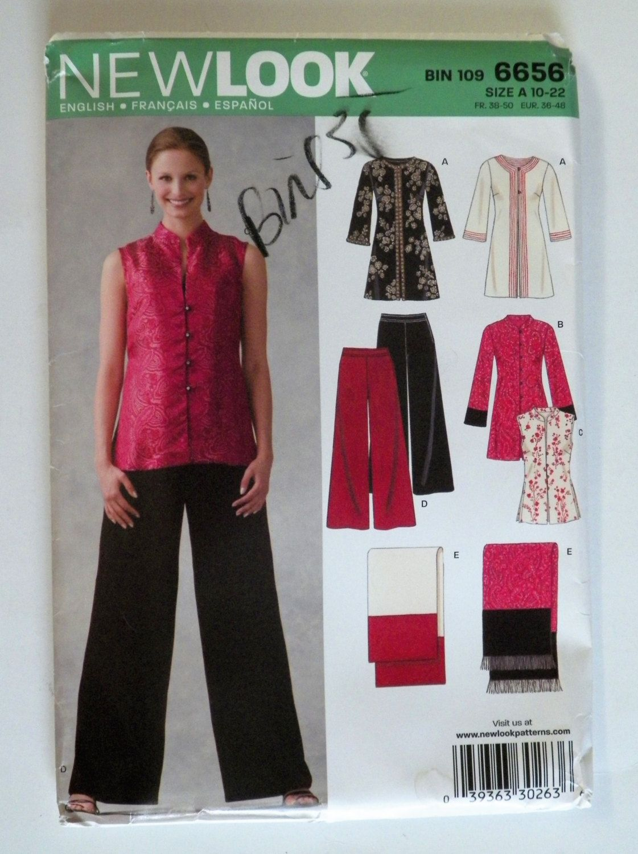misses TUNIC DRESS pant flattering slim vest-look 8 10 12 14 16 scarf layered @@
