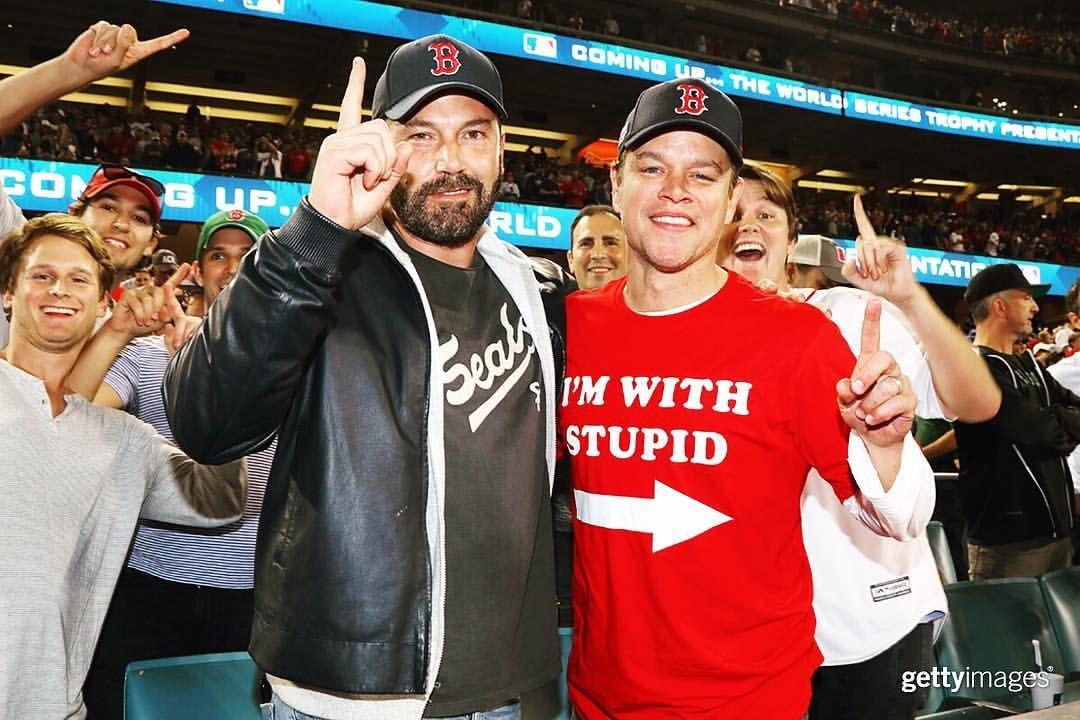 Getty Images Entertainment On Instagram Ben Affleck And Matt Damon Celebrate As Boston Takes The 2018 World Series Championship Ben Affleck Matt Damon Damon