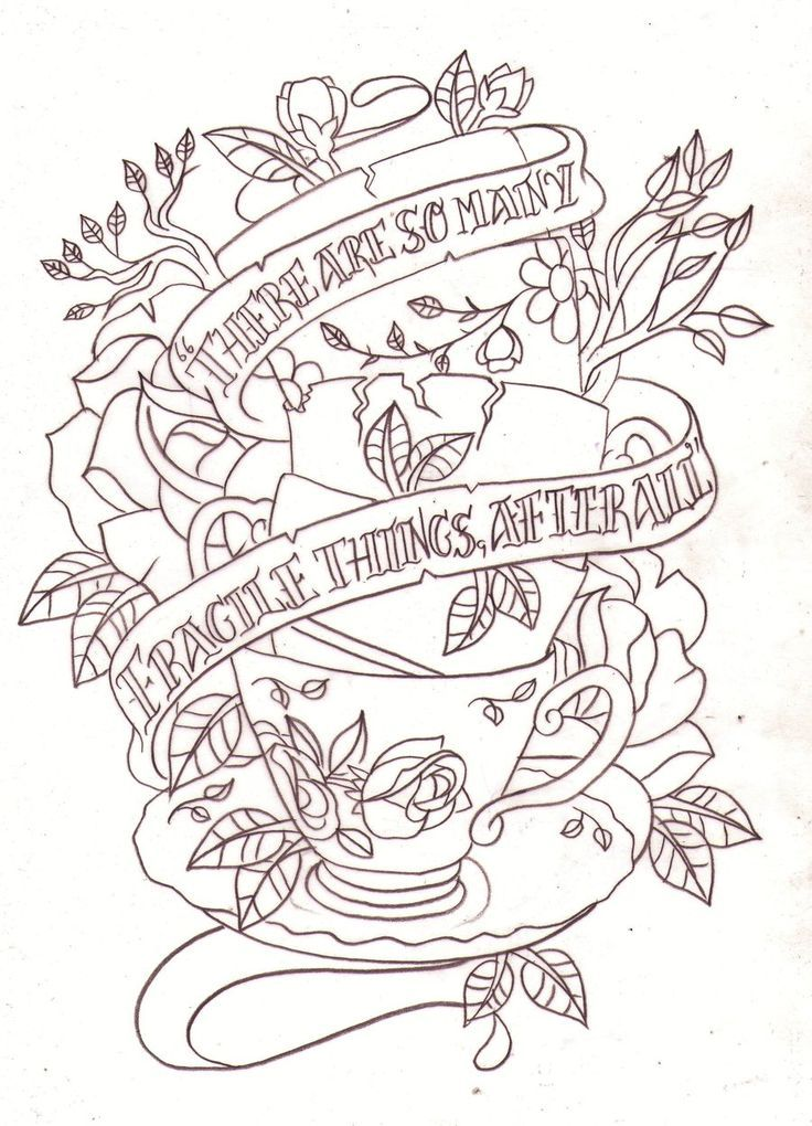 Alice In Wonderland Ink Idea Teacup Tattoo Tattoo Sketches Wonderland Tattoo