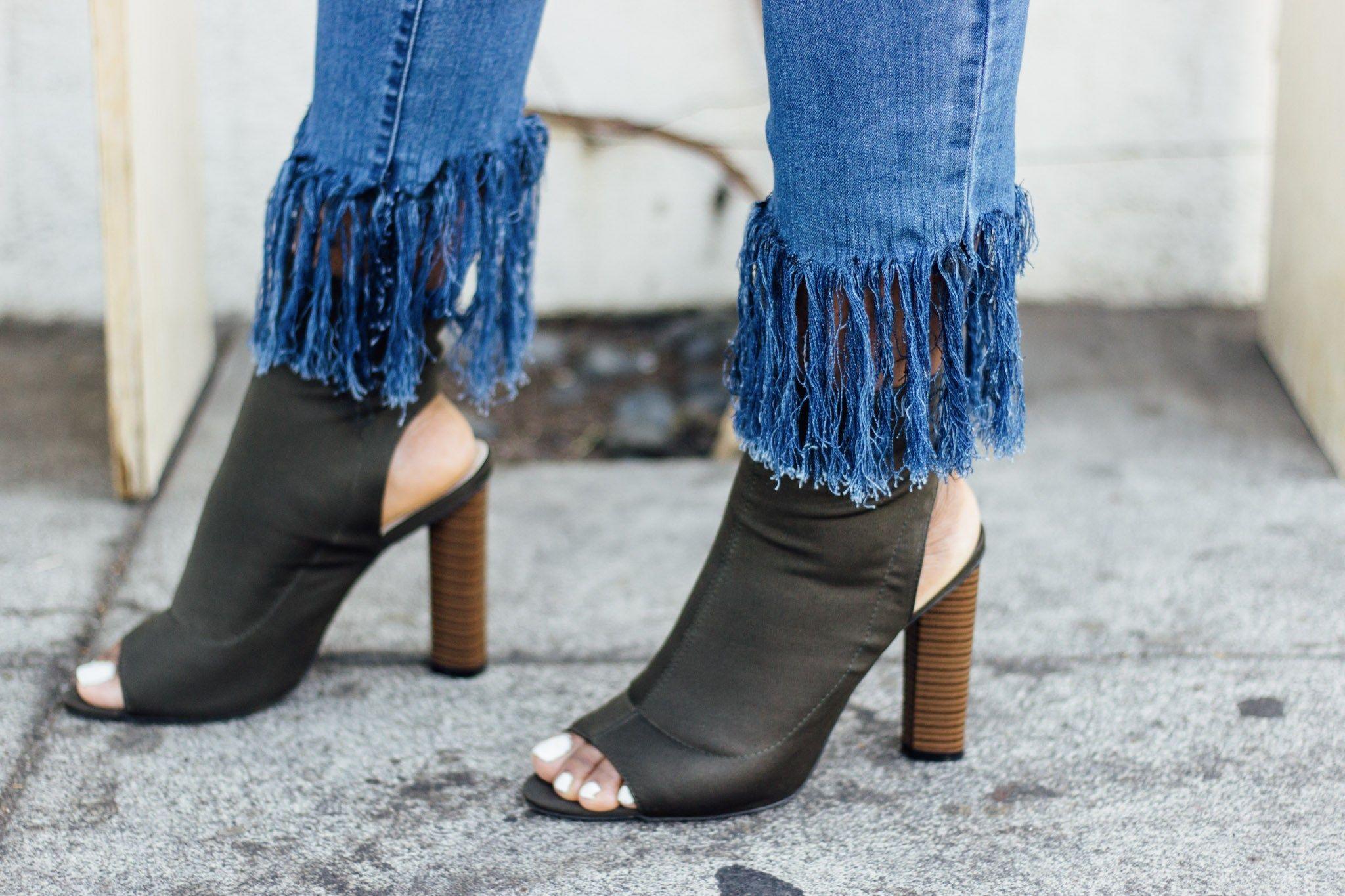 496f3d71a0 diy fringe denim jeans | Fashion in 2019 | Denim jeans, Jeans ...