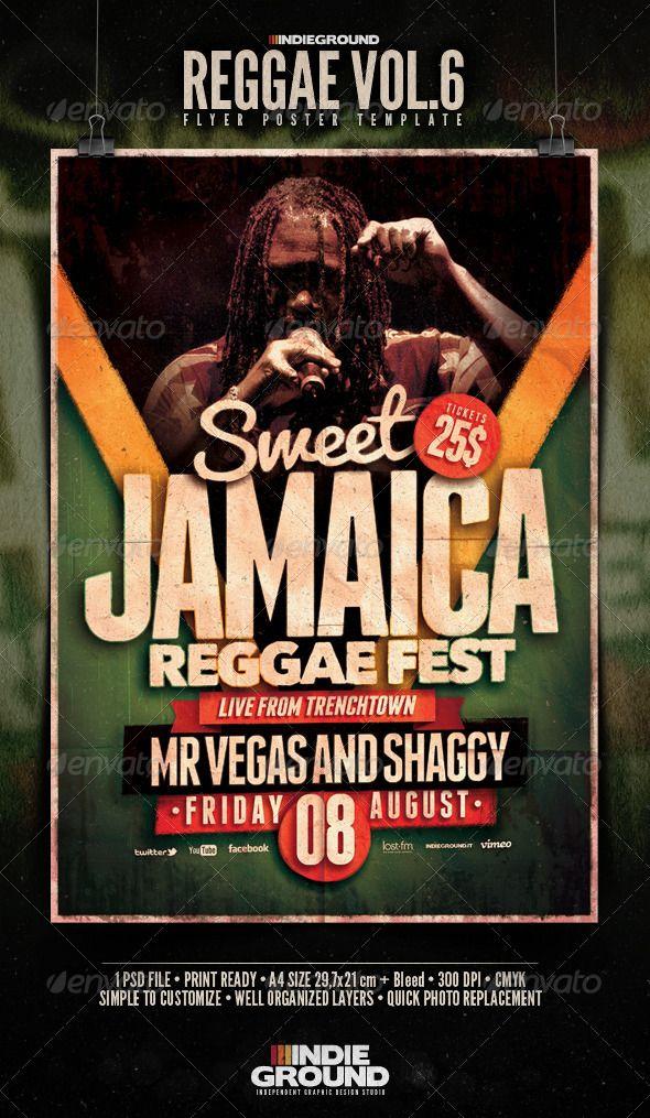 reggae flyer poster vol 6 graphicriver reggae flyer poster