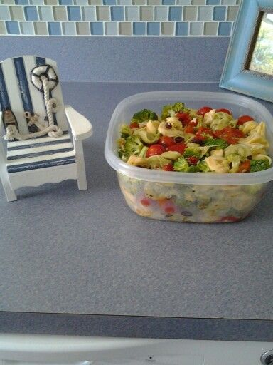 Summer cold tortellini salad