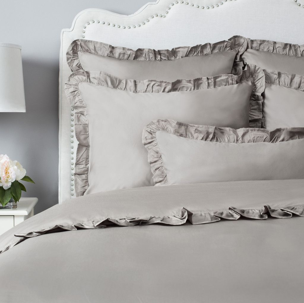 The Vienna Oyster Grey   Gray duvet cover, Crane & canopy, Duvet ...