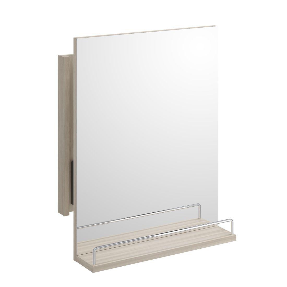 Salon-spiegel-designs cersanit smart  herausziehende spiegel mit ablage  esche hell