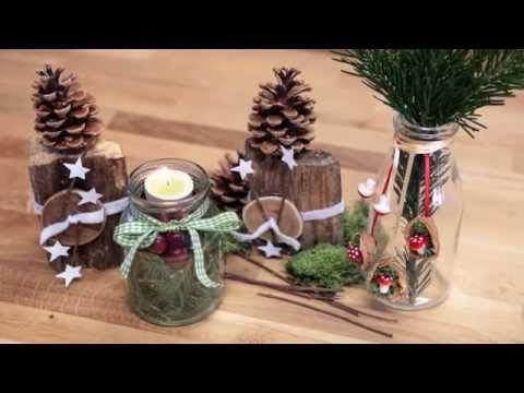 active beauty weihnachts tischdeko aus naturmaterialien youtube vianoce. Black Bedroom Furniture Sets. Home Design Ideas