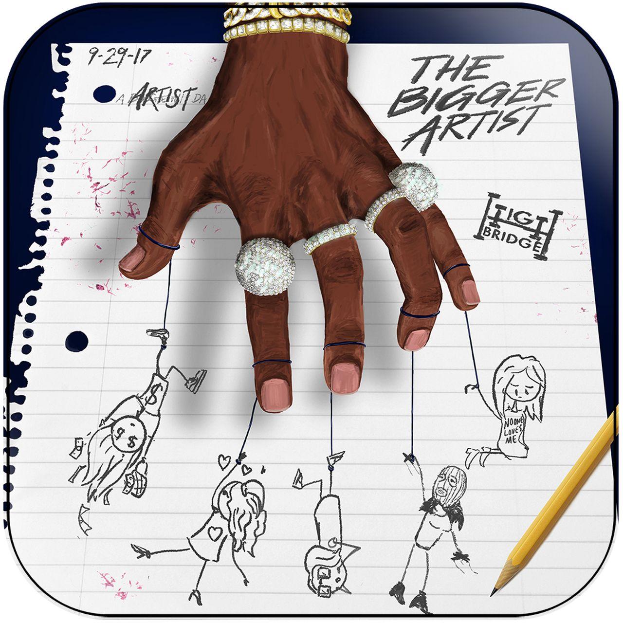 A Boogie Wit Da Hoodie The Bigger Artist Album Cover Sticker In