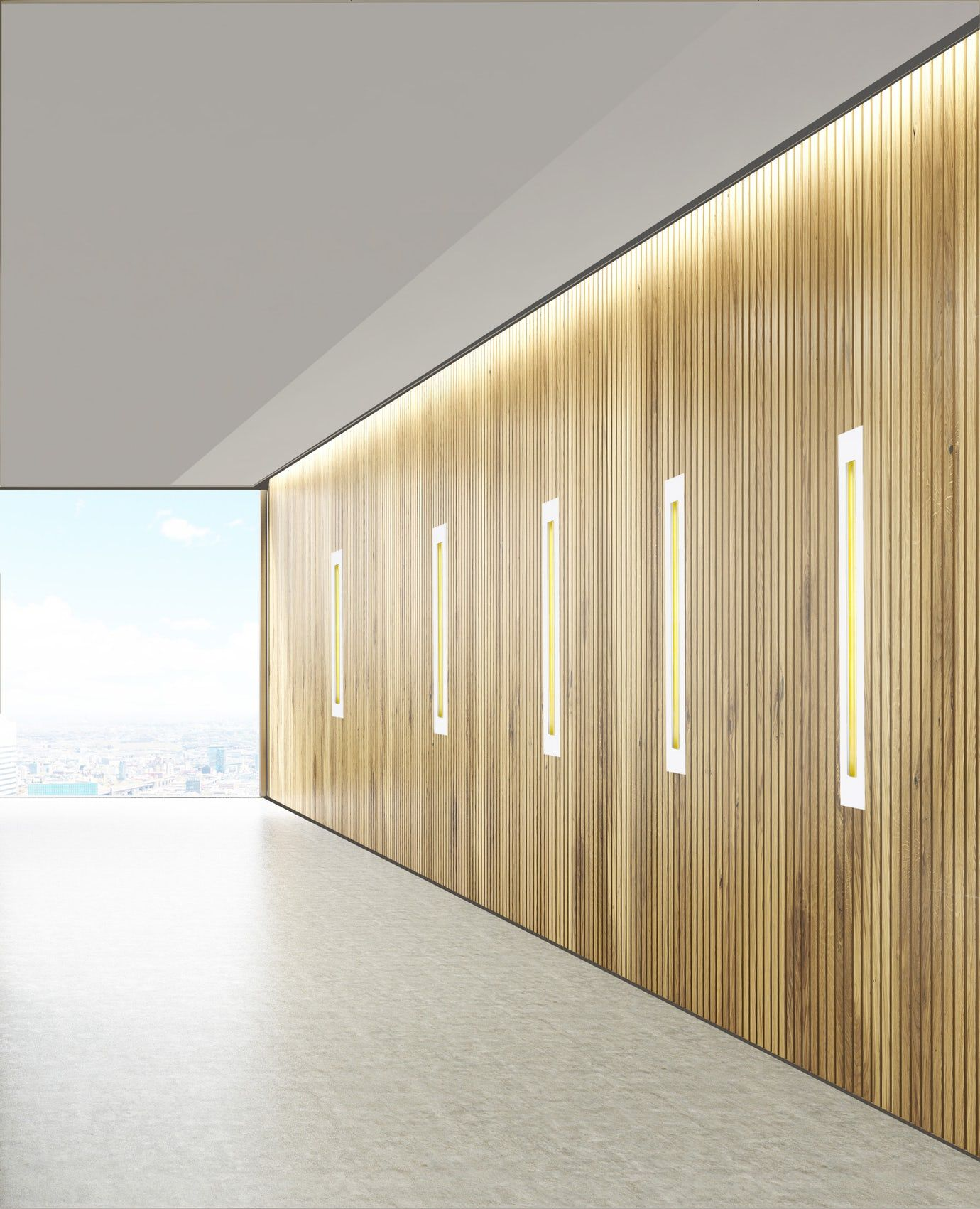 Recessed Linear Lighting With Gold Leafed Reflector Sunbeam Led