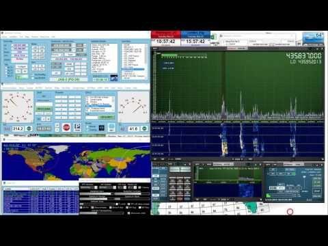 Ham Radio Satellite FO29 JAS 2 Using SDRplay with Doppler