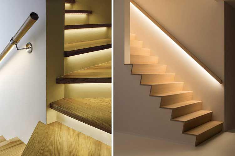 Luz indirecta en la decoraci n de interiores deco for Escaleras con luz
