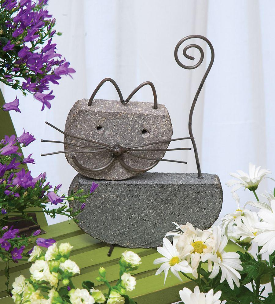 Decora tu jard n con objetos de cemento gatos for Decora tu jardin
