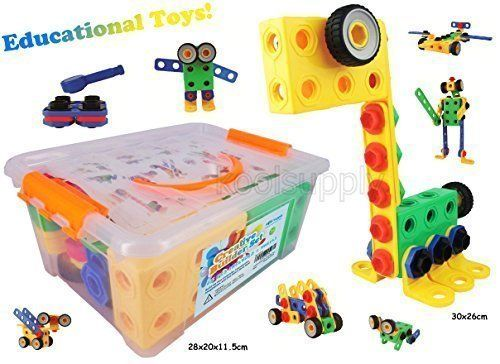 Creative Builder Set  90 Pieces Building Blocks Toys For Boys And Girls From Koolsupply For 3 4 5 Year Old U0026 Girls Fun STEM Learning Support