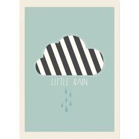 poster, mint, groen, zeegroen, little rain wolk | babykamer en, Deco ideeën