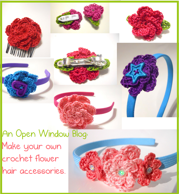 An Open Window: How To: Crochet Hair Accessories