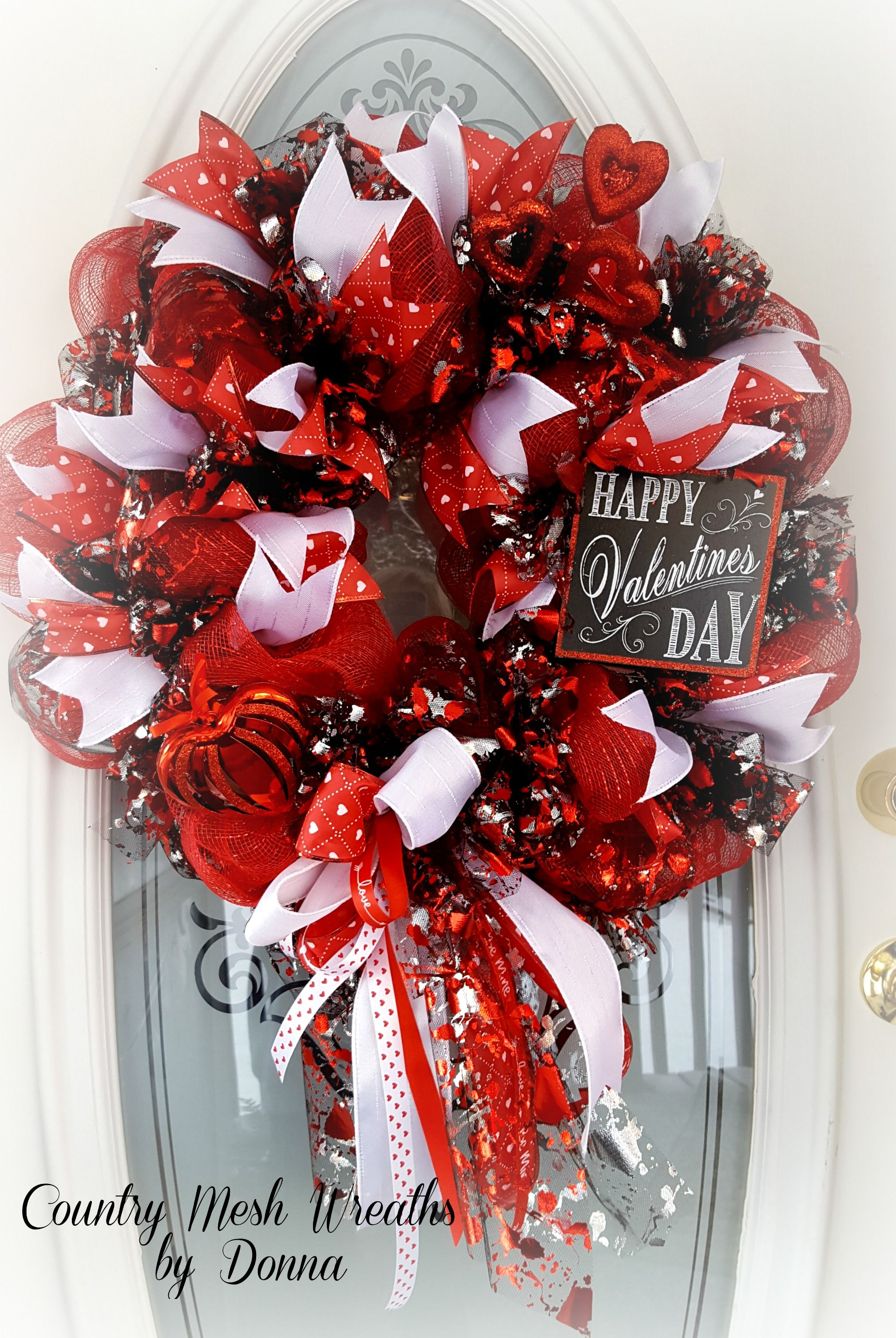 Valentines Wreath Deco Mesh Tulle And Oodles Of Ribbon Trendy