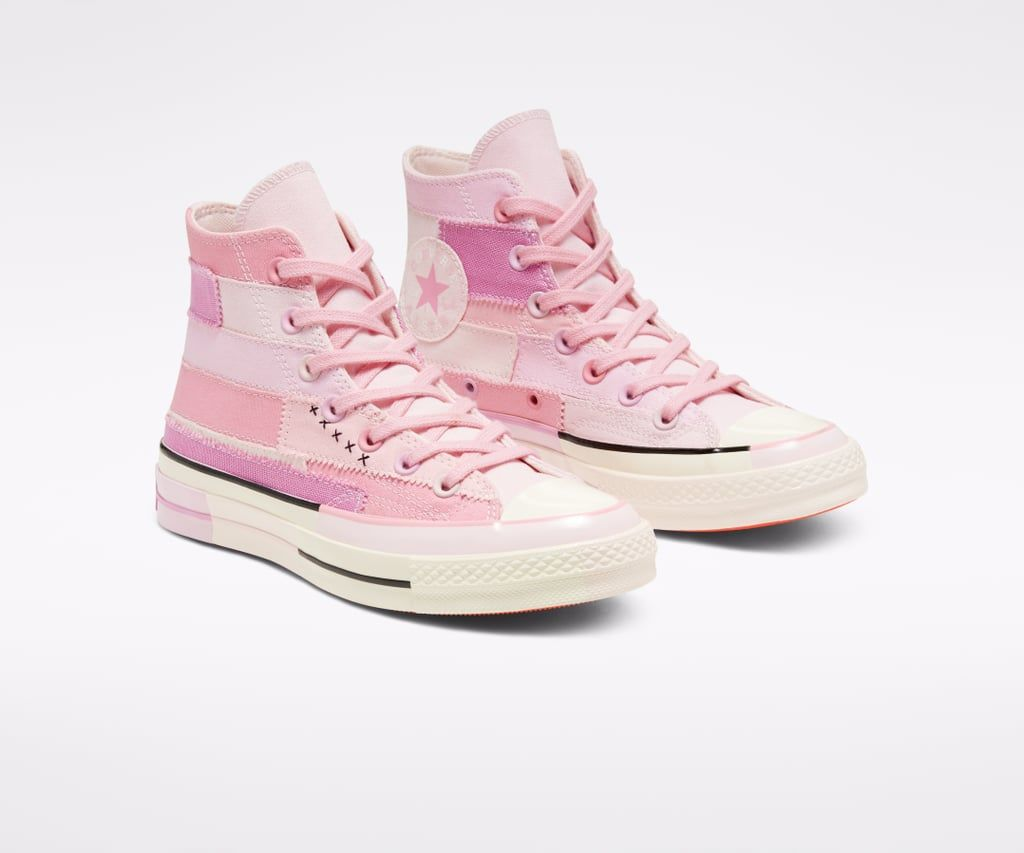 Millie Bobby Brown S Second Converse Collection Is All About Spreading Good Vibes Pink Sneakers Hype Shoes Converse