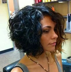 Short Hairstyles For Curly Hair Glamorous Stacked Curly Bob  Hair Ideas  Pinterest  Bobs And Hair Style