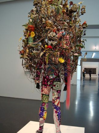 Nick Cave's piece of art...crazy crochet potholder legs!