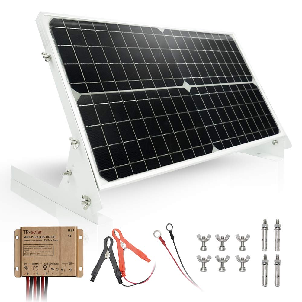 Amazon Com Tp Solar 30w 12v Solar Panel Kit Battery Charger Maintainer 10a Waterproof Solar Charge Controll In 2020 Solar Panel Charger Solar Panels 12v Solar Panel