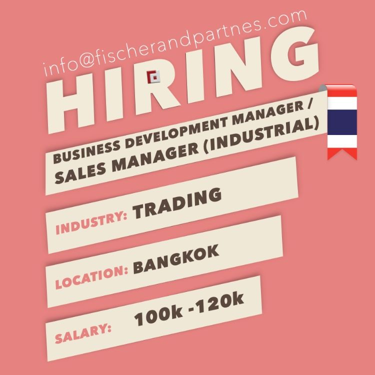 Seeking Business Development Manager Sales Manager Industrial