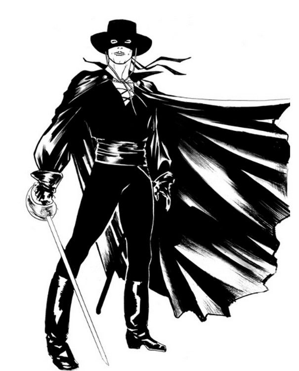 Coloring Page Zorro 1 Birthday Theme Costume The Rhpinterestit: Zorro Cartoon Coloring Pages At Baymontmadison.com