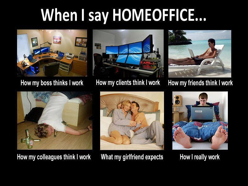 What People Think When I Say I work from home (Home Office