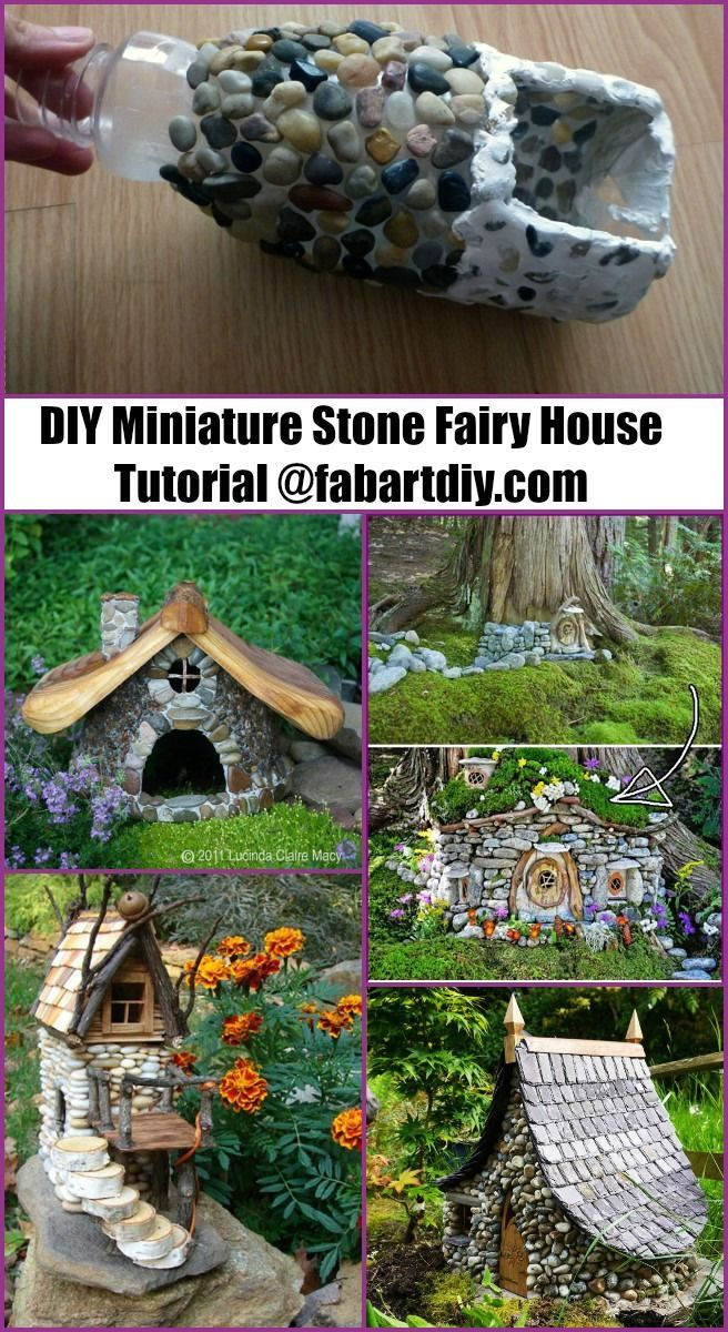 DIY Miniatur Stein Fee Haus Tutorial #gardencraft