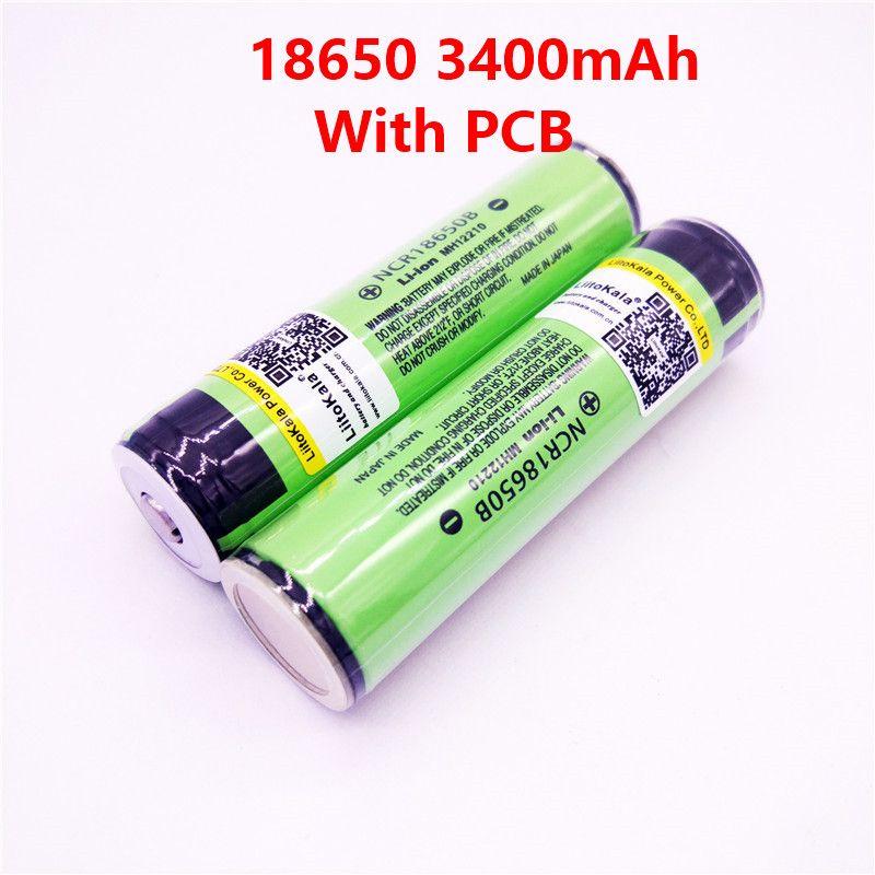 Us 3 07 35 Off Hot Original Liitokala 18650 3400mah Ncr18650b 3 7 V 3400 Mah 18650 Lithium Rechargeable Battery For Flashlight Batteries Pcb Protection Pcb Li Sajt Elektronika