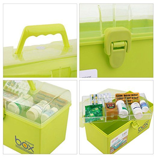 Amazon Com Pekky Plastic Small Handle Storage Box For Art Craft And Cosmetic Green Baby Green Cosmetics Arts And Crafts Storage Box
