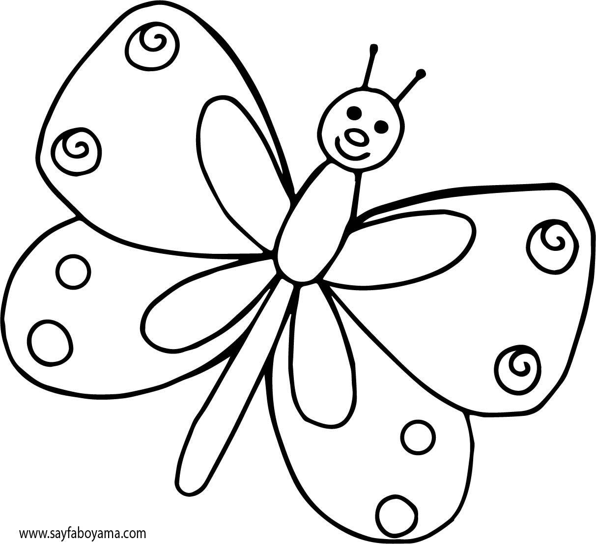 Kelebek Boyama Sayfası Kelebek Boyama Sayfası Pdf Olarak Indir