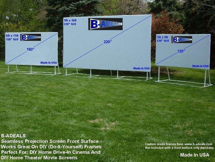 Diy front projection projector screen material from wwwb