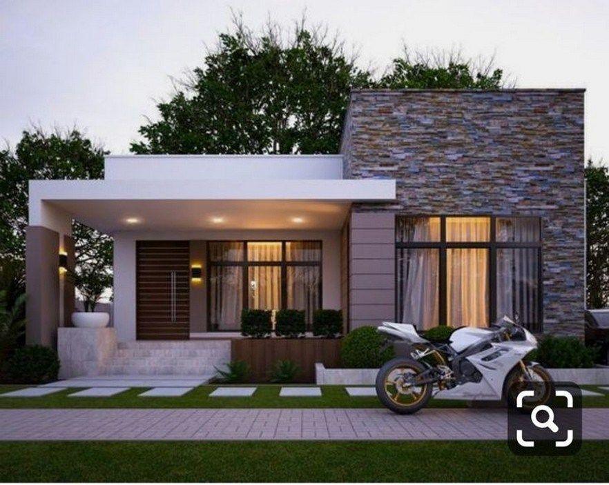 47 Inspiring Modern House Design Ideas 2019 23 Fieltro Net Fachadas De Casas Terreas Fachadas De Casas Casas Quadradas