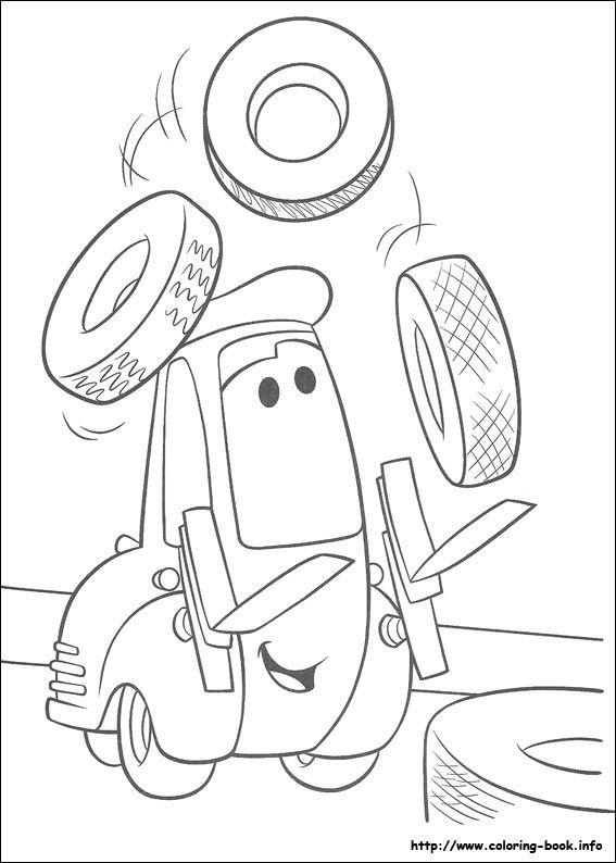 Desenhos Para Colorir Do Filme Da Disney Carros Paginas Para