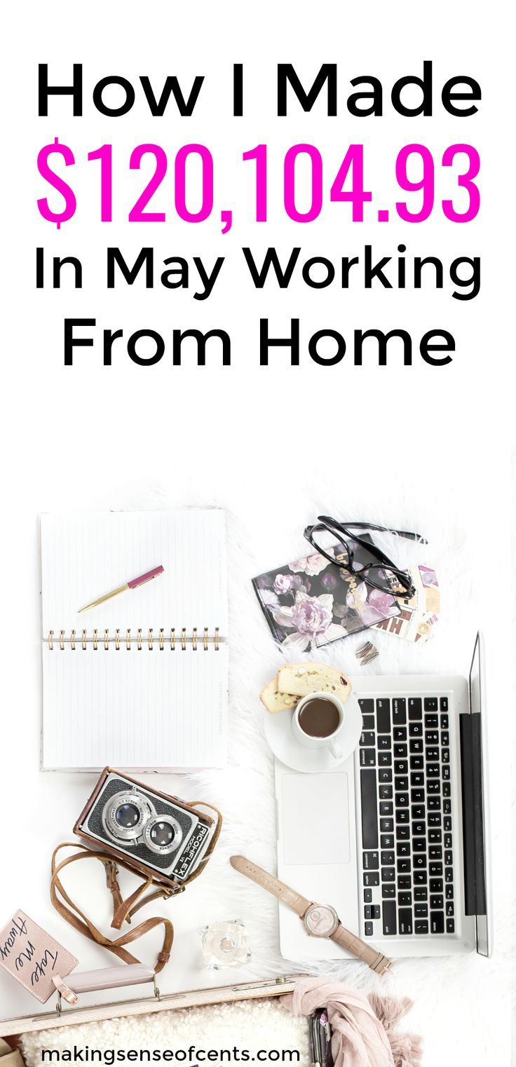 How I Made $120,104.93 In May Working From Home