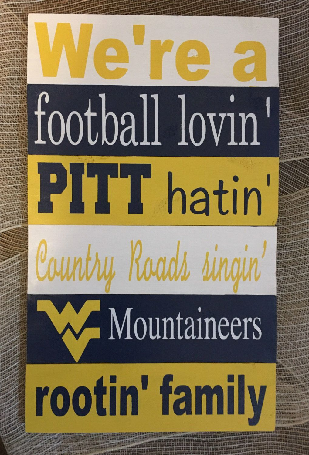 West Virginia Mountaineers Home Decor Great For WVU Family Perfect Graduates