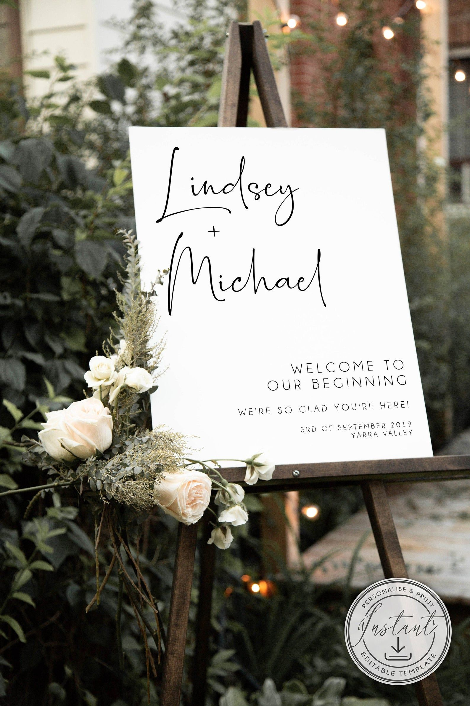 Minimalist Wedding Welcome Sign Template Custom Welcome Sign Etsy In 2021 Wedding Welcome Signs Wedding Welcome Minimalist Wedding