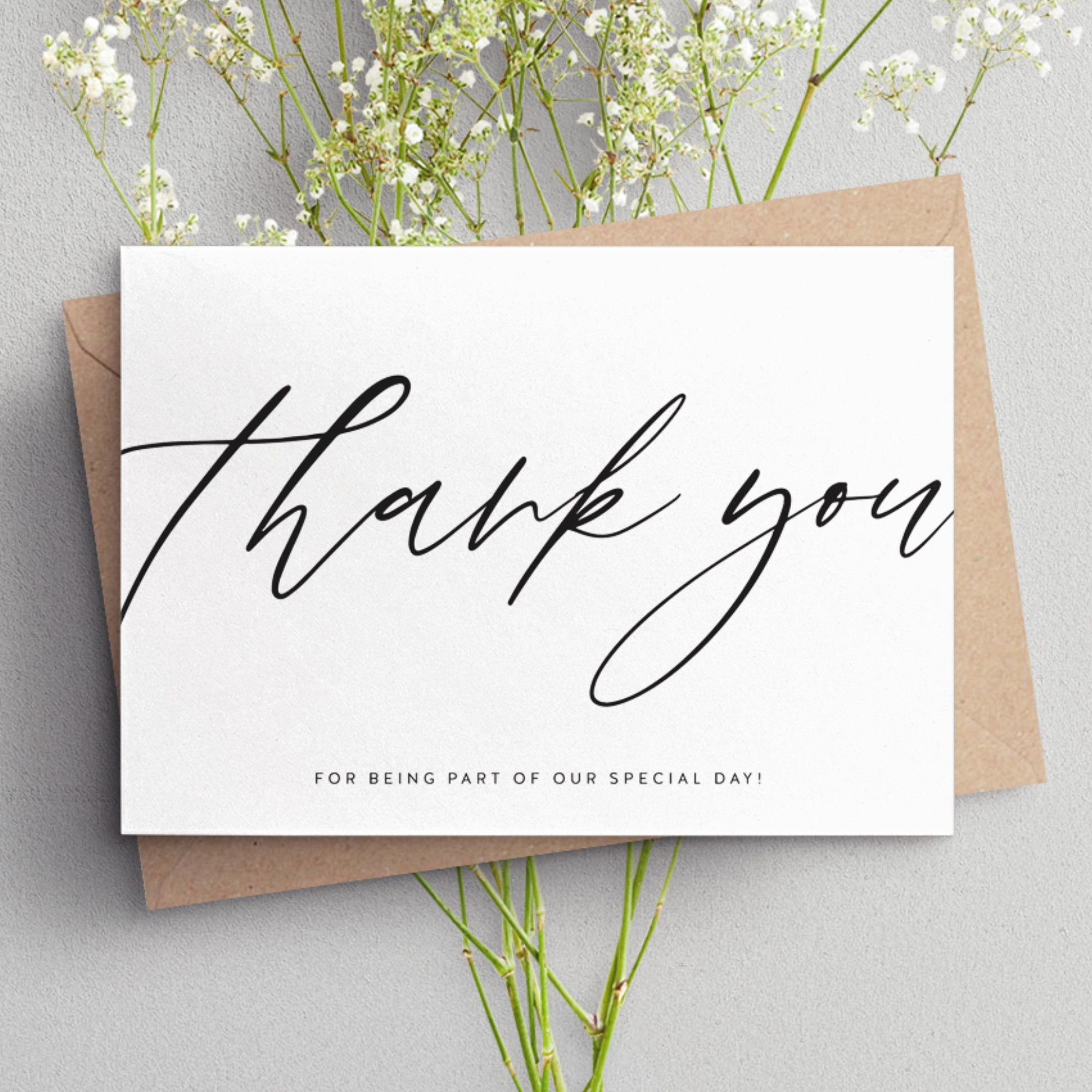Wedding Thank You Cards Thank You Cards Personalised Thank Etsy Thank You Card Design Personalized Thank You Cards Thank You Cards