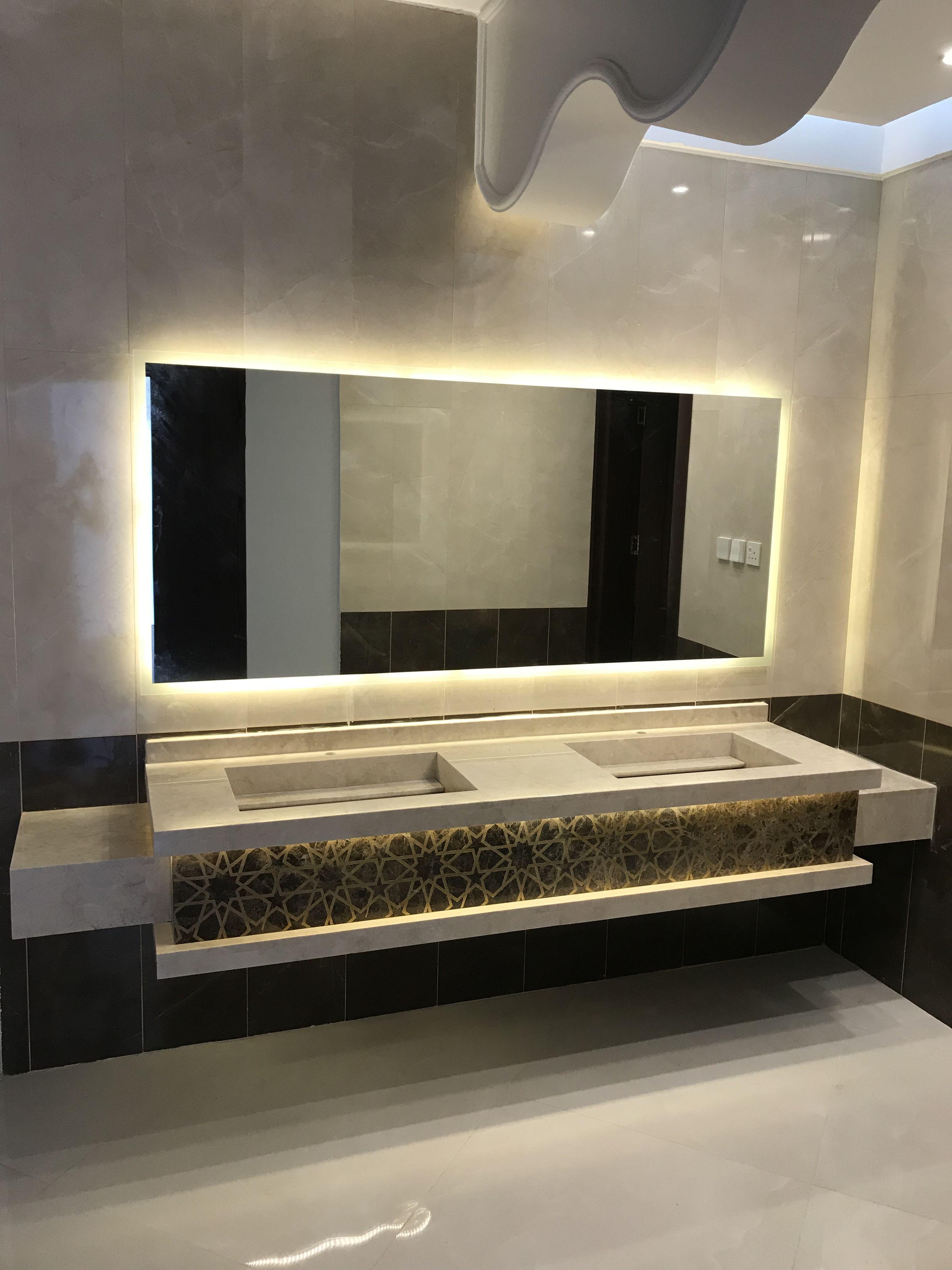 Pin By Kent Leoni On مغاسل Led Mirror Bathroom Hallway Designs Home Decor