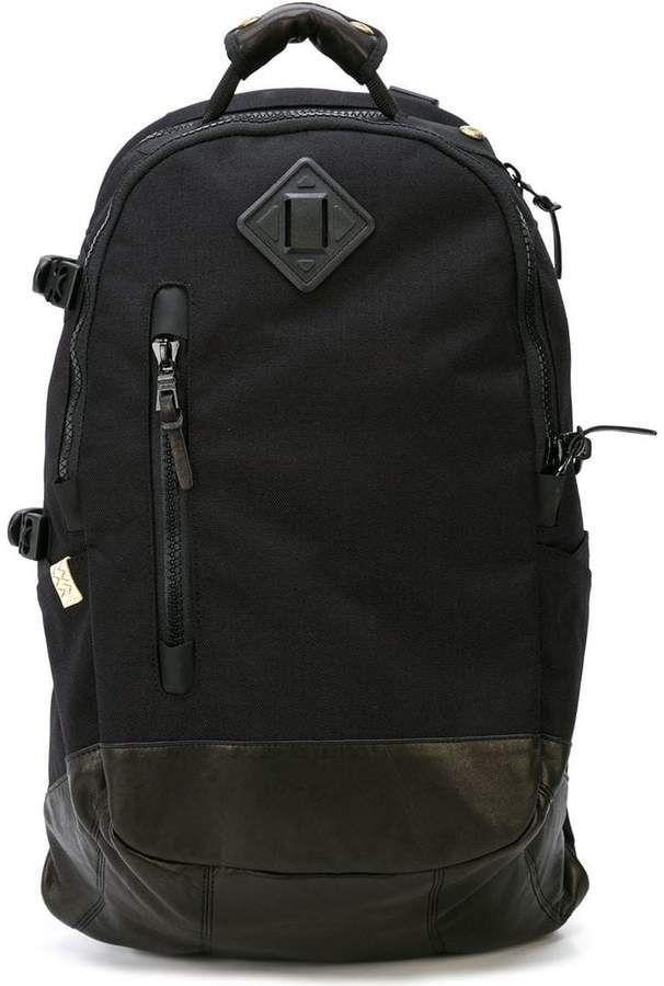 c09d744f7510 Visvim logo plaque backpack Black Backpack