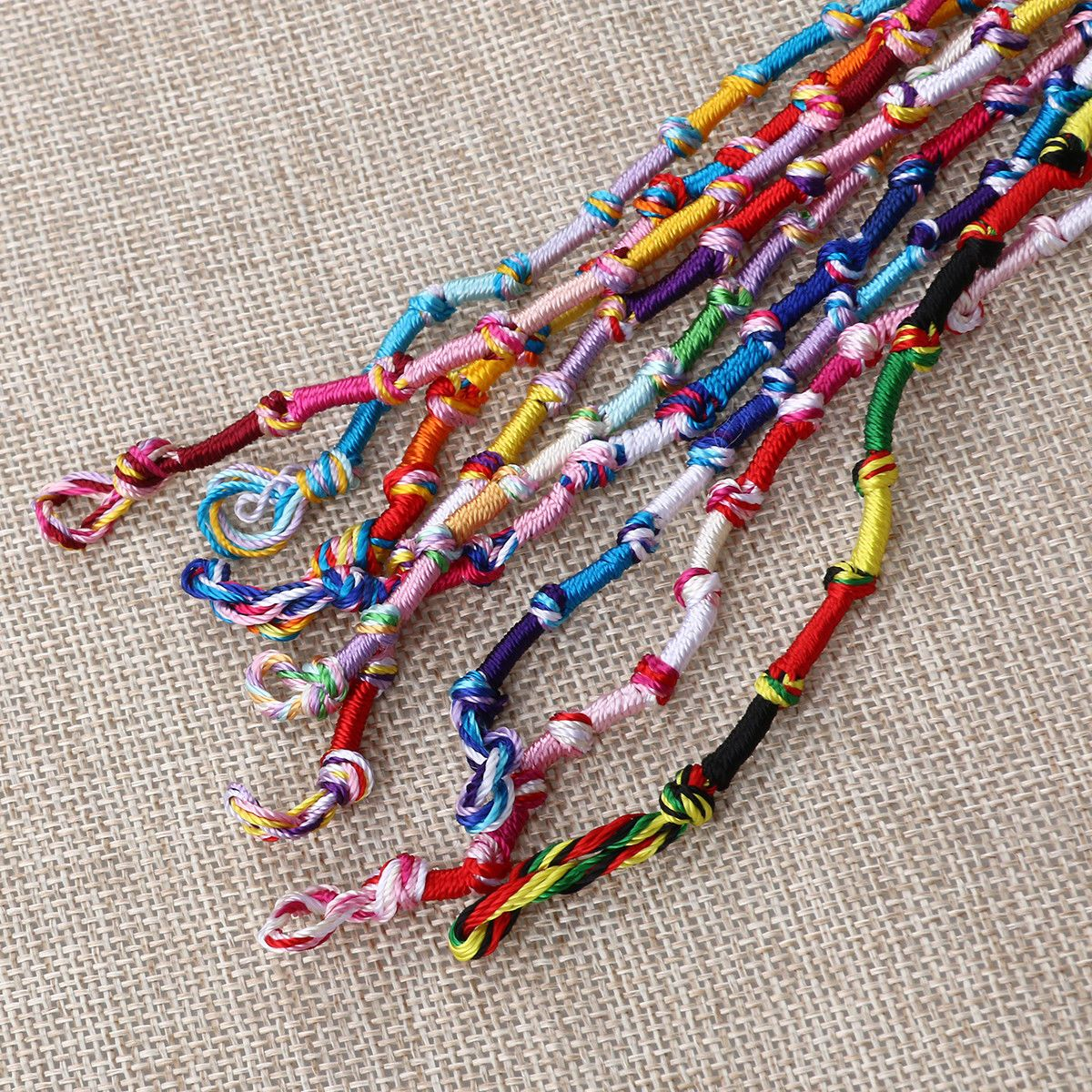 Bracelets pcs hippie style braided friendship bracelet thread girls