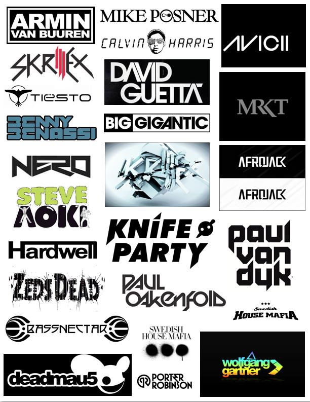 Collage, Top DJ Logos