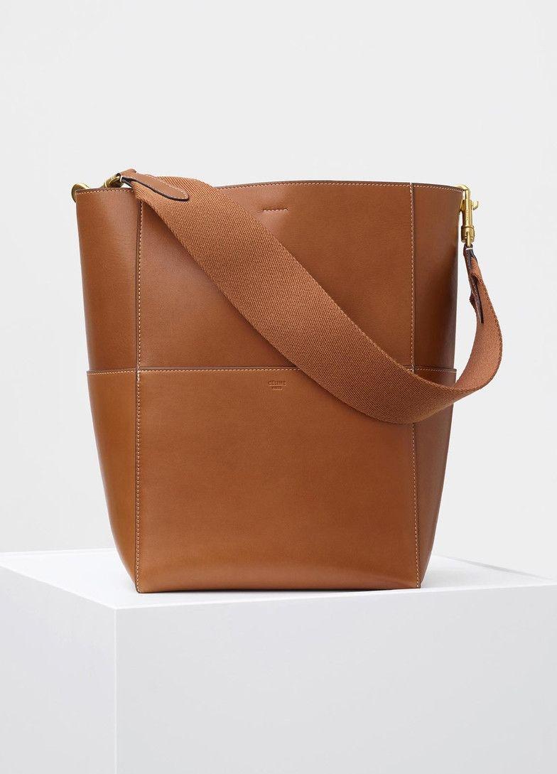 5c57766d25 Seau Sangle Shoulder Bag in Natural Calfskin - Céline
