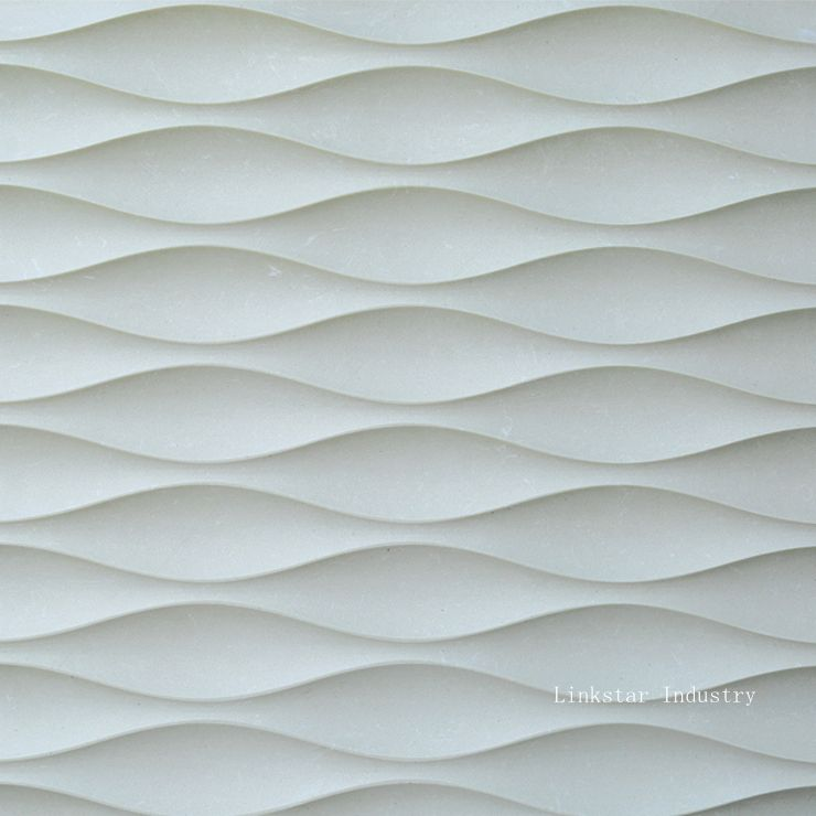 Decorative Wall Tile Art 3D Wavy Feature Stone Wall Art Tile Pattern Can Create A