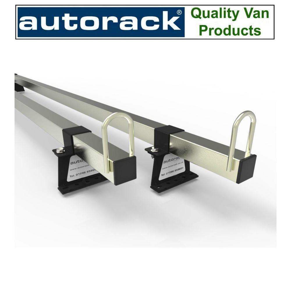 VAUXHALL VIVARO Mk1 With End-Stops and all fittings - 2 Van Roof Rack Bars Rails - AutoRack EasyBars 2001-2013