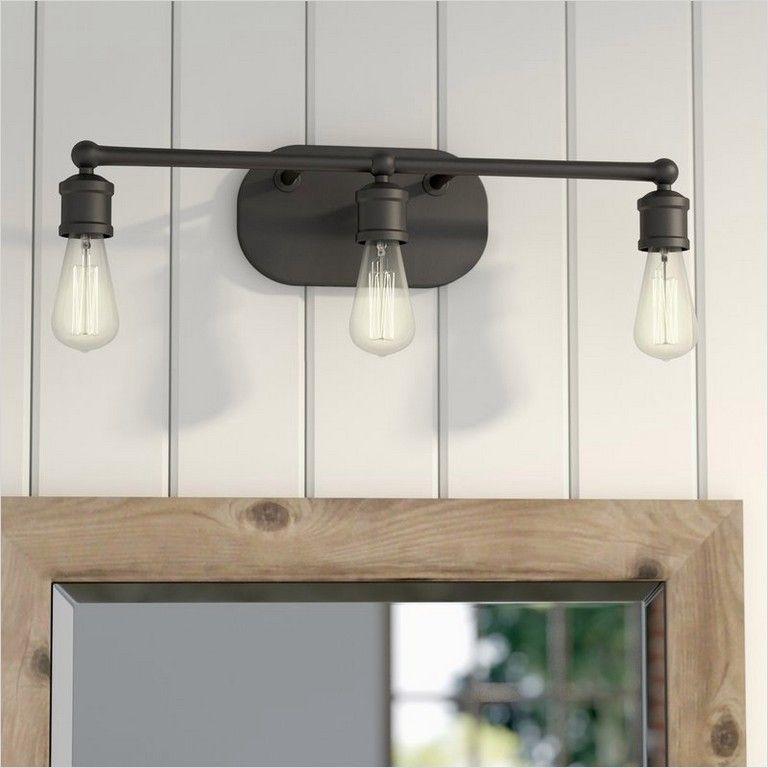 40 beautiful farmhouse bathroom lighting ideas that will